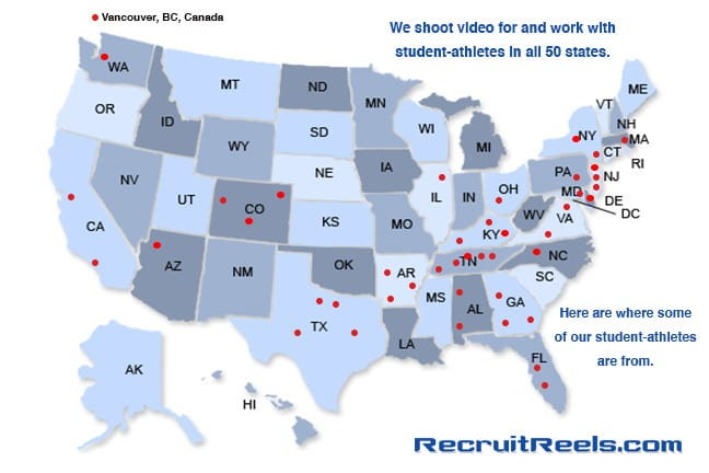 Recruit Reels Map