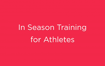 In Season Training for Athletes
