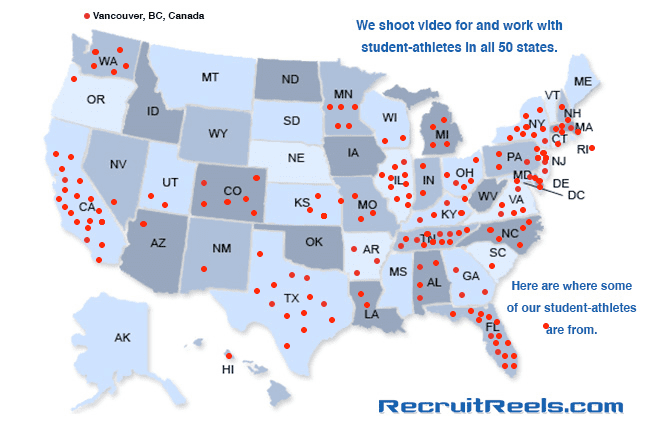 Recruit Reels Map